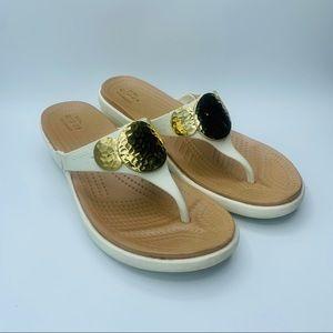 Crocs Sanrah Hammered-Circles Women's Wedge Sandal
